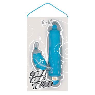 Toy Joy Funky Bunny, голубой Вибратор с клиторальным отростком