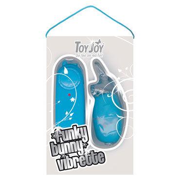 Toy Joy Funky Bunny Vibrette, голубой Виброяйцо в форме кролика