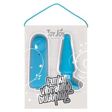 Toy Joy Funky Vibrating, голубая Анальная вибропробка