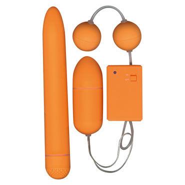 Toy Joy Funky Fun Box, оранжевый Набор секс-игрушек, вибратор, виброяйцо и вагинальные шарики