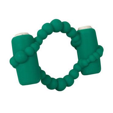 Toy Joy Revelation Ring Emerald Эрекционное кольцо с двумя виброэлементами