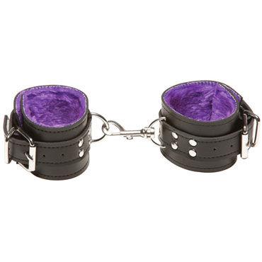 X-play Passion Fur Wrist, фиолетовые Кожаные наручники