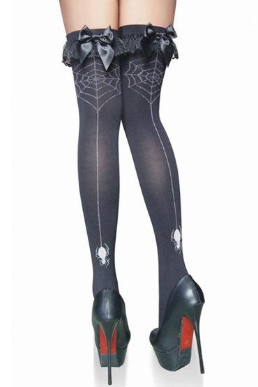 Le Frivole чулки, С узором в виде паутинки и паука - Размер Универсальный (XS-L) от condom-shop.ru
