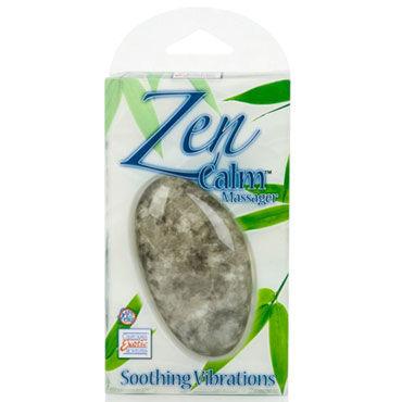 California Exotic Zen Calm, серый Вибромассажер в форме камня