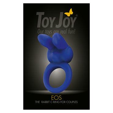 Toy Joy Eos The Rabbit C-Ring, синее Эрекционное кольцо с клиторальным стимулятором