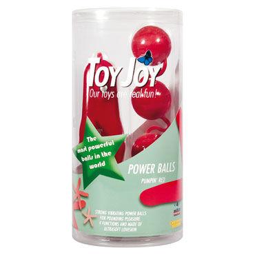 Toy Joy Power Balls, красные Вагинальные шарики с вибрацией