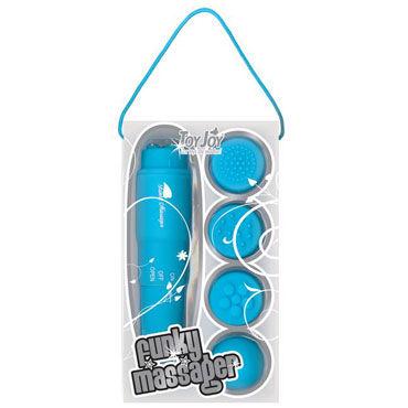 Toy Joy Funky Massager, голубой Виброракета со сменными насадками