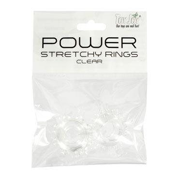 Toy Joy Power Stretchy Rings, прозрачный Набор эрекционных колец на пенис