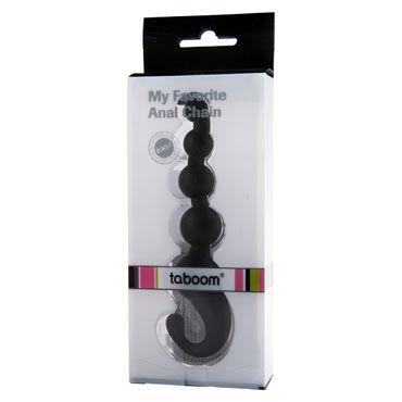 Taboom My Favorite Anal Chain, черная Анальная цепочка с удобной рукояткой