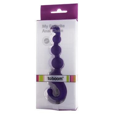 Taboom My Favorite Anal Chain, фиолетовая Анальная цепочка с удобной рукояткой