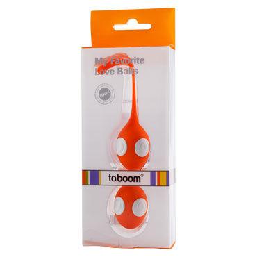 Taboom My Favorite Love Balls, оранжевые Вагинальные шарики со шнурочком