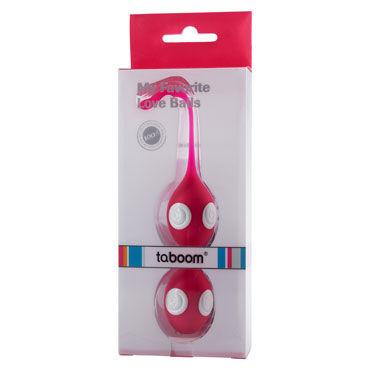 Taboom My Favorite Love Balls, розовые Вагинальные шарики со шнурочком