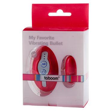 Taboom My Favorite Vibrating Bullet, розовое Виброяйцо, 7 уровней вибрации