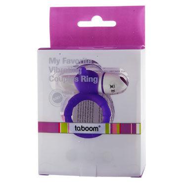 Taboom My Favorite Couples Ring, фиолетовое Эрекционное виброкольцо