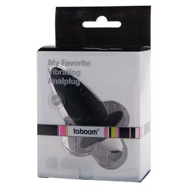 Taboom My Favorite Vibrating Analplug, черный Анальный вибростимулятор