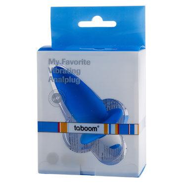 Taboom My Favorite Vibrating Analplug, синий Анальный вибростимулятор