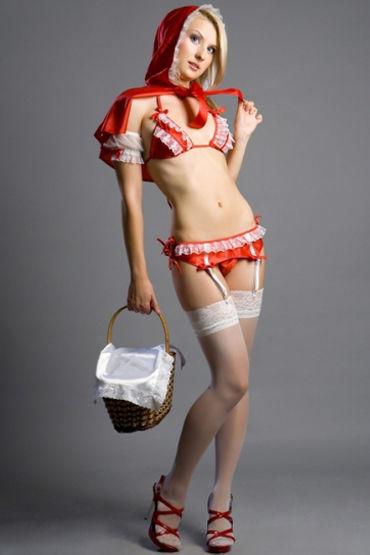 Flirt On Красная Шапочка Накидка, лиф, стринги, пояс и нарукавники