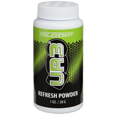 Doc Johnson UR3 Refresh Powder, 28г Тальк универсальный для изделий из силикона и пластмассы