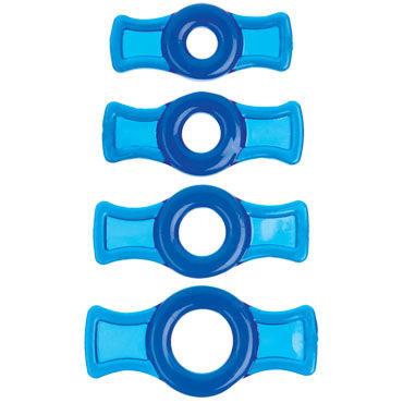 Doc Johnson TitanMen Cock Ring Set, синий Набор колец