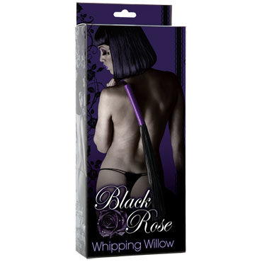 Doc Johnson Black Rose Whipping Willow Многохвостая плеть