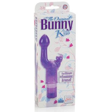 California Exotic The Original Bunny Kiss, фиолетовый Вибратор с клиторальным стимулятором