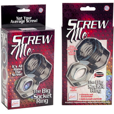 California Exotic Screw Me The Big Socket Эрекционное кольцо в форме гайки