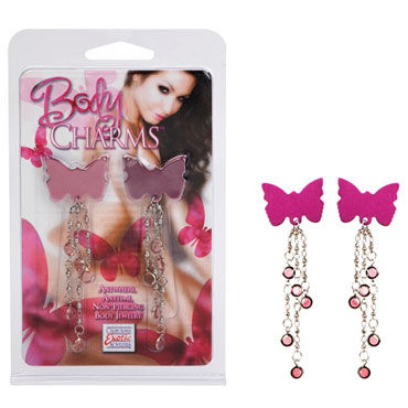 California Exotic Body Charms Pink Butterfly Украшения для груди