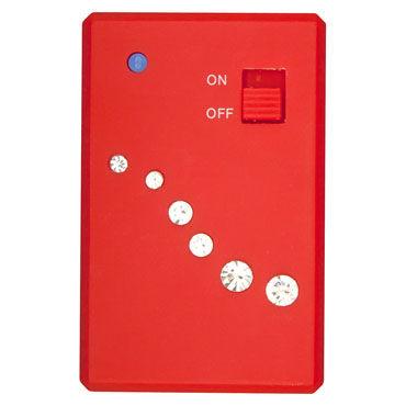 Toy Joy Crystal Mini Vibe, красный мини вибратор на дистанционном управлении