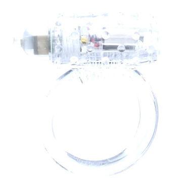Seven Creations Cockring Silicon, прозрачное Виброкольцо со стимуляцией клитора