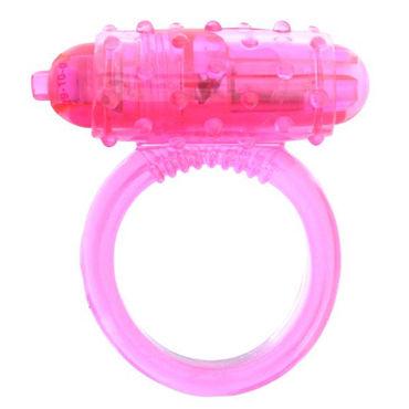 Seven Creations Cockring Silicon, розовое Виброкольцо со стимуляцией клитора