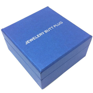 Anal Jewelry Plug Small Silver, синий Маленькая анальная пробка с кристаллом