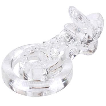 Chisa Tongue Cockring, прозрачный Эрекционное кольцо с вибрацией