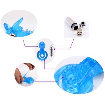 Chisa Tongue Cockring, синий Эрекционное кольцо с вибрацией