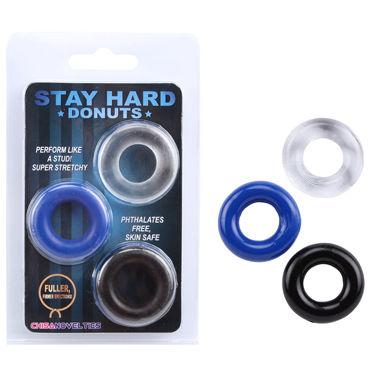 Chisa Donuts Эластичные эрекционные кольца, 3 шт.