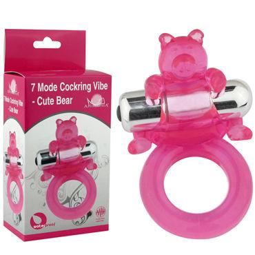 Howells Cute Bear, розовый Виброкольцо с милым мишкой