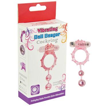 Howells Ball Banger Cock Ring, розовый Виброкольцо с 2 утяжеляющими шариками