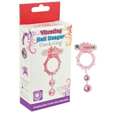 Howells Ball Banger Cock Ring, фиолетовый Виброкольцо с 2 утяжеляющими шариками
