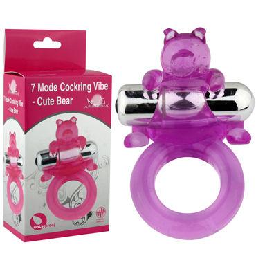 Howells Cute Bear, фиолетовый Виброкольцо с милым мишкой