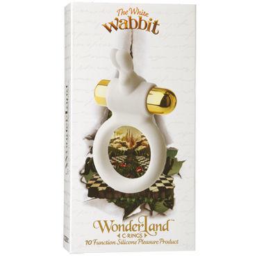 Doc Johnson Wonder Land The White Wabbit Эрекционное кольцо с виброэлементом