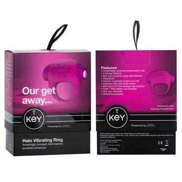Jopen Key Halo, розовое Виброкольцо со стимуляцией клитора