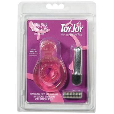 Toy Joy Fabulous Fling Ring Эрекционное виброкольцо с петлей для мошонки