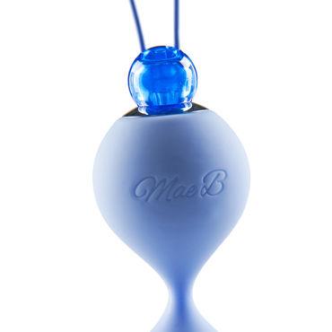 Mae B Lovely Vibes Love Balls, голубые Вагинальные шарики с гладкой поверхностью