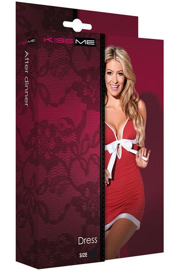 Kiss Me After Dinner Red Кокетливое мини-платье с бантом