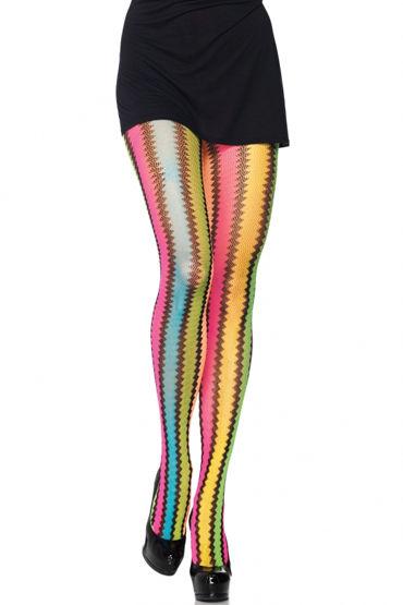 Leg Avenue Rainbow Zig-Zag Колготки с радужным узором