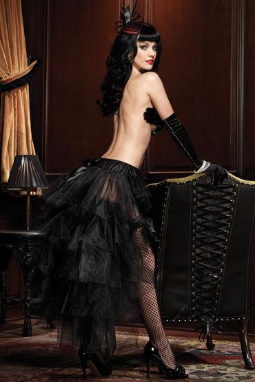 Leg Avenue юбка, черная С длинным шлейфом