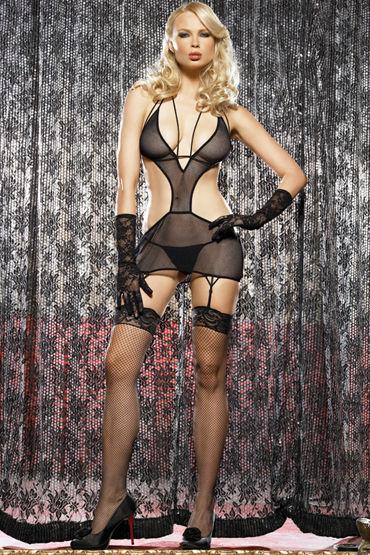 Leg Avenue комплект Открытое платье с пажами и трусики
