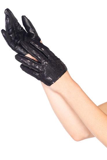 Leg Avenue перчатки Расшитые пайетками