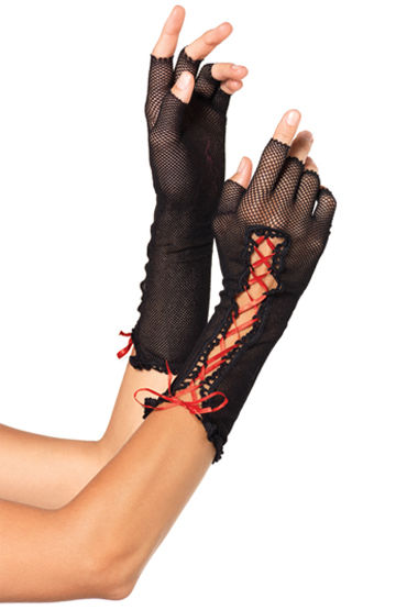 Leg Avenue перчатки С яркой шнуровкой