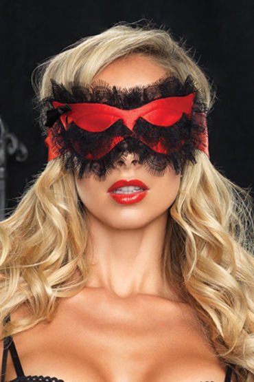 Leg Avenue маска Из яркого атласа