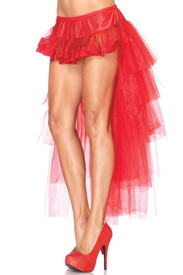 Leg Avenue юбка, красная С длинным шлейфом